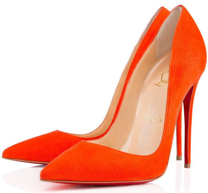 Christian Louboutin 'So Kate' pumps in orange suede
