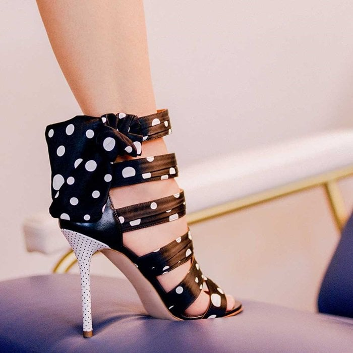 Charismatic Polka Dot 'Joan' Sandals