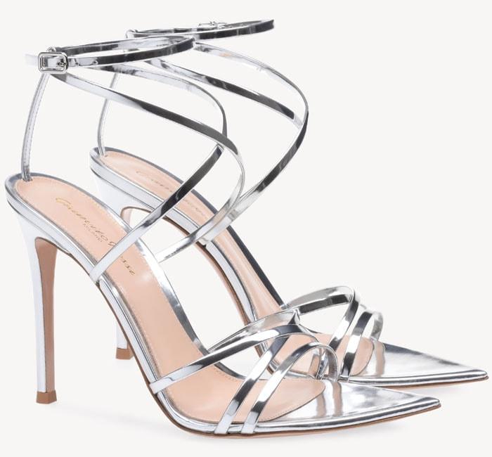 Gianvito Rossi Kim metallic silver sandals