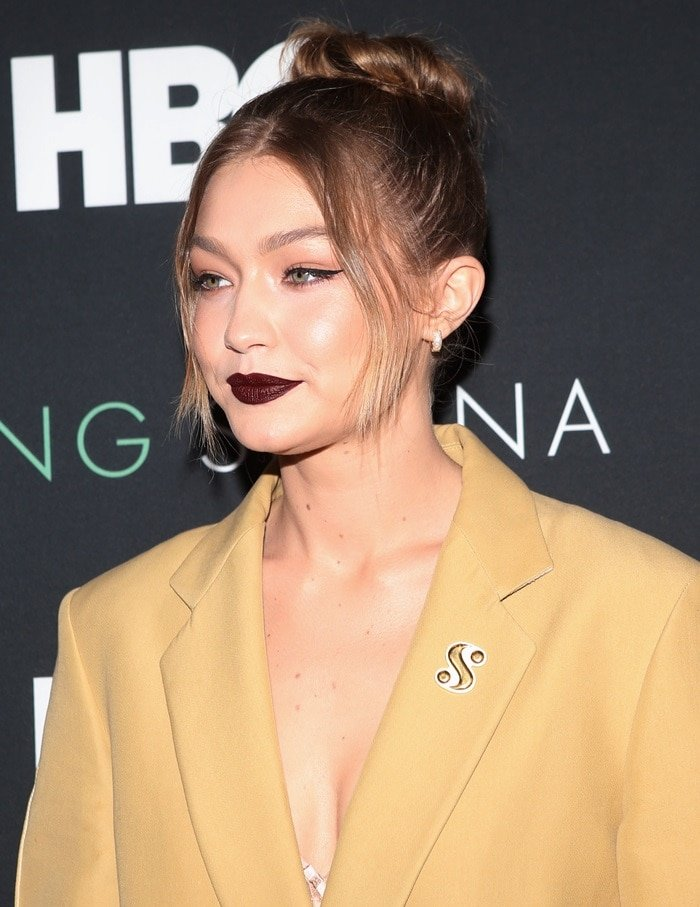 Gigi Hadid accessorized withearrings from EFFY Jewelry