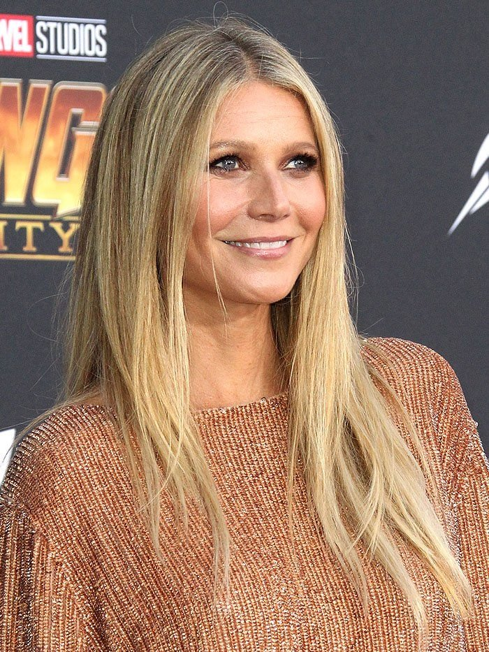 "Gwyneth Paltrow at the ""Avengers: Infinity War"" premiere."