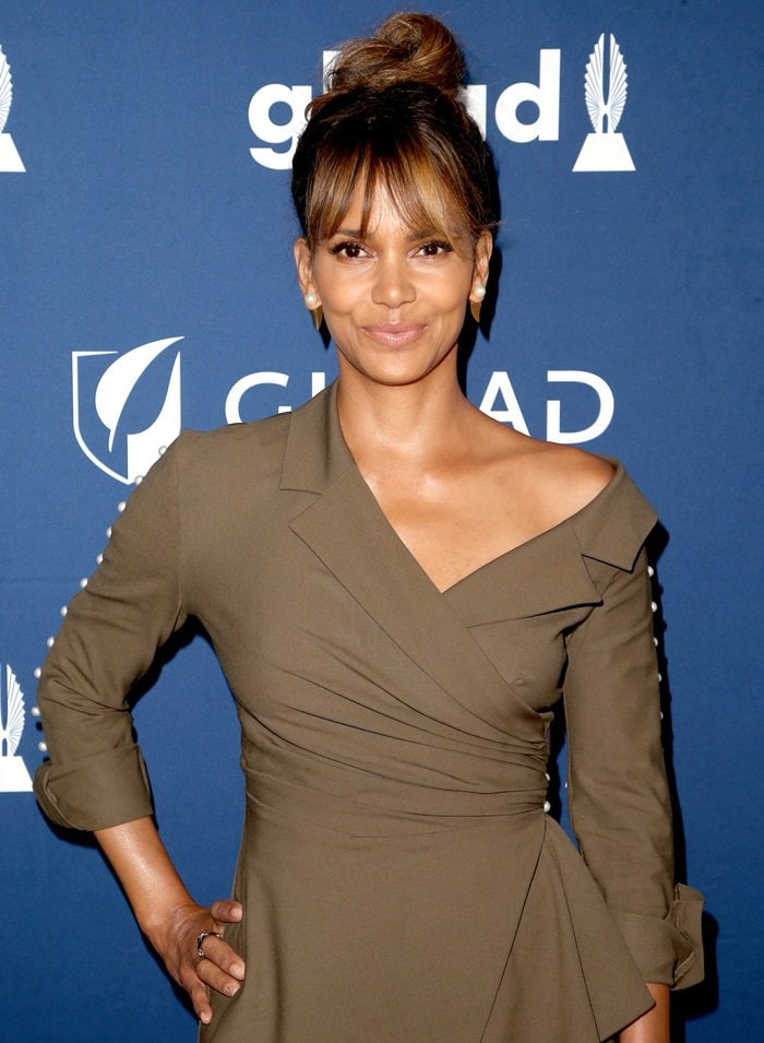 Halle Berry at the 2018 GLAAD Media Awards