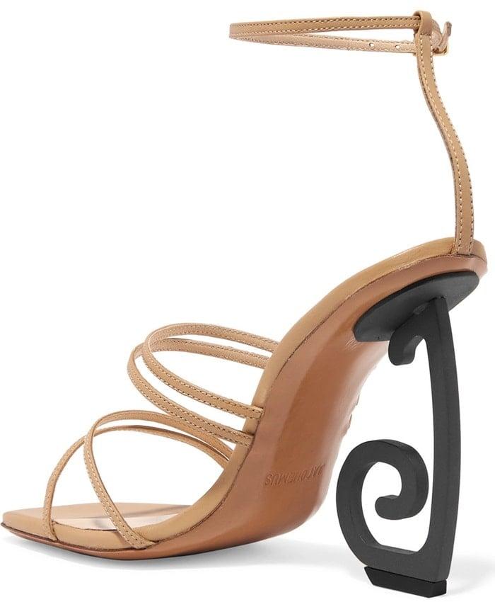 Crazy JACQUEMUS Espiral leather sandals