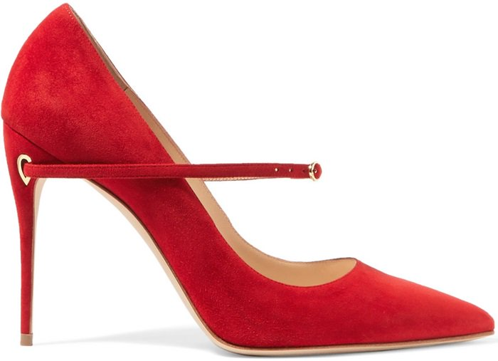 Red 'Lorenzo' suede pumps