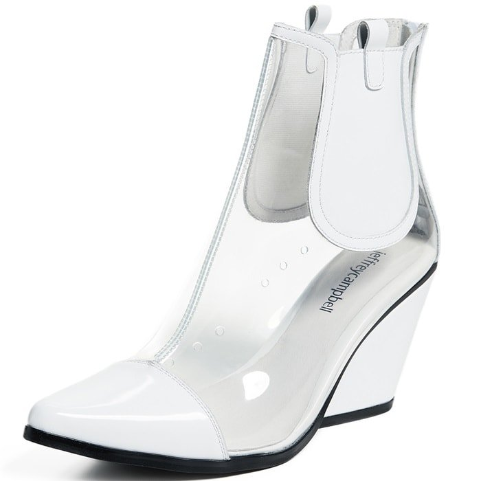 Playful 'Aliases' PVC Ankle Boots