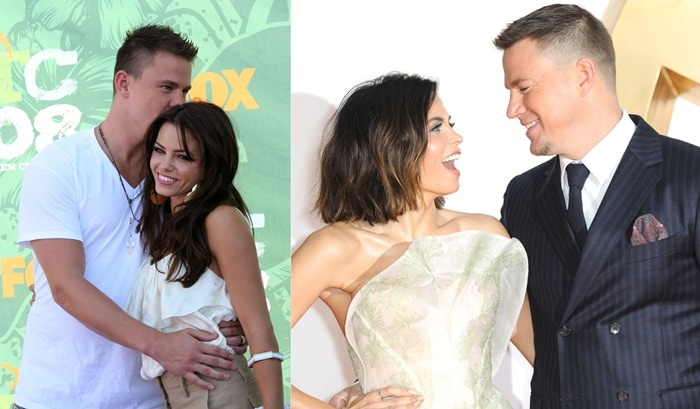 Channing Tatum and Jenna Dewan Tatum 2008 Teen Choice Awards held at the Gibson Amphitheatre in Universal City on August 3, 2008 and at the world premiere 'Kingsman: The Golden Circle' held at Odeon Leicester Square in London, England, on September 18, 2017