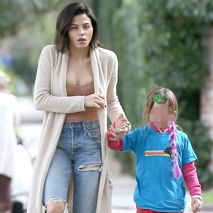 Jenna Dewan Tatum with daughter, Everly Tatum, wearing a green shamrock on St Patrick's Day