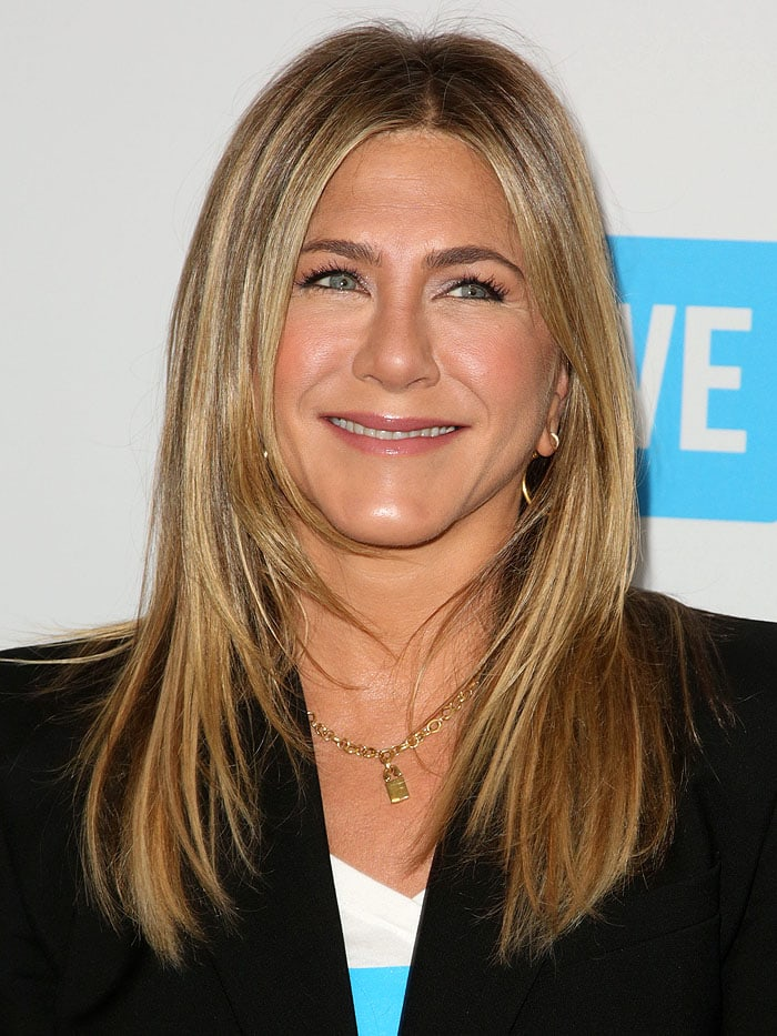 Jennifer Aniston at WE Day California at The Forum in Los Angeles, California, on April 19, 2018
