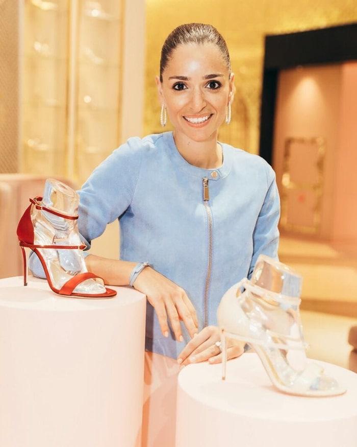 Jennifer Chamandi, the Lebanese-born, London-based footwear designer