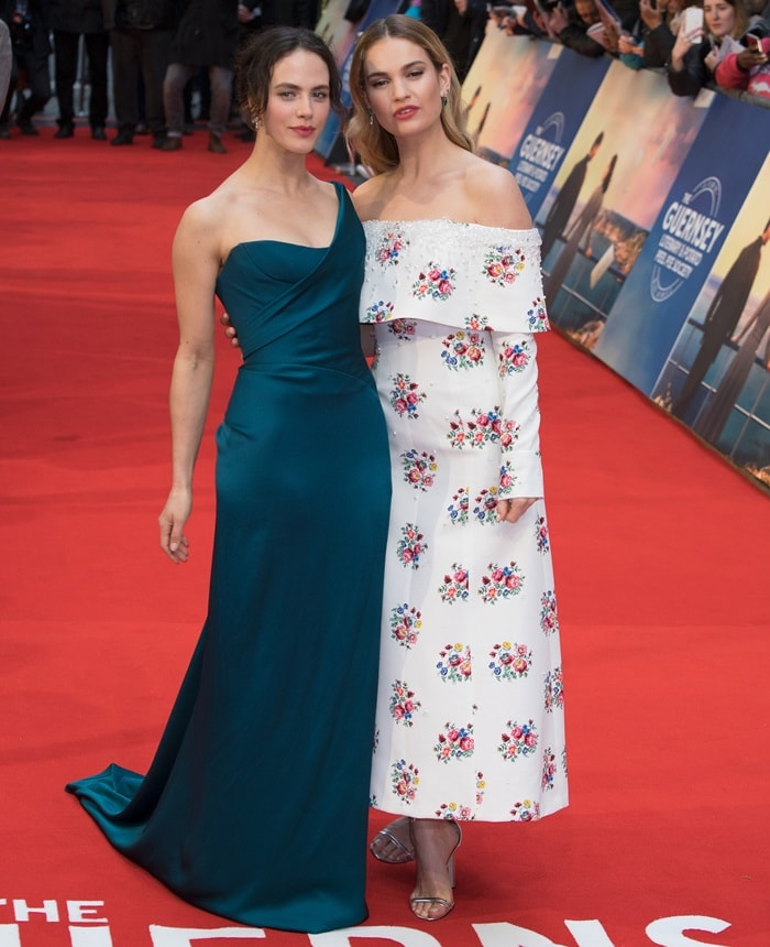 Lily James and Jessica Brown Findlay have previously worked together on the beloved series 'Downton Abbey'