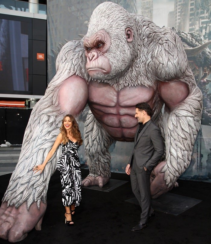 'Rampage' star Joe Manganiello and wife Sofia Vergara at the premiere of 'Rampage'