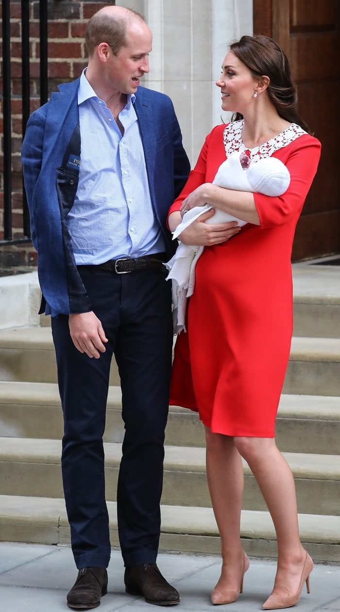Catherine, Duchess of Cambridge has given birth to her third child - a baby boy at the Lindo Wing at St Mary's Hospital in London. She gave birth at the facility at 11.01 am.