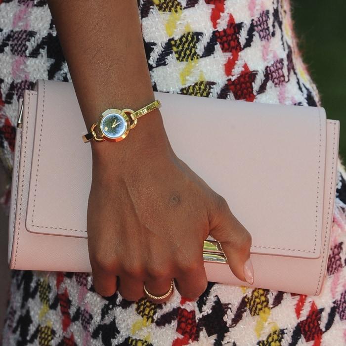 Kerry Washington totinga Kate Spade New York 'Make It Mine Camila' clutch