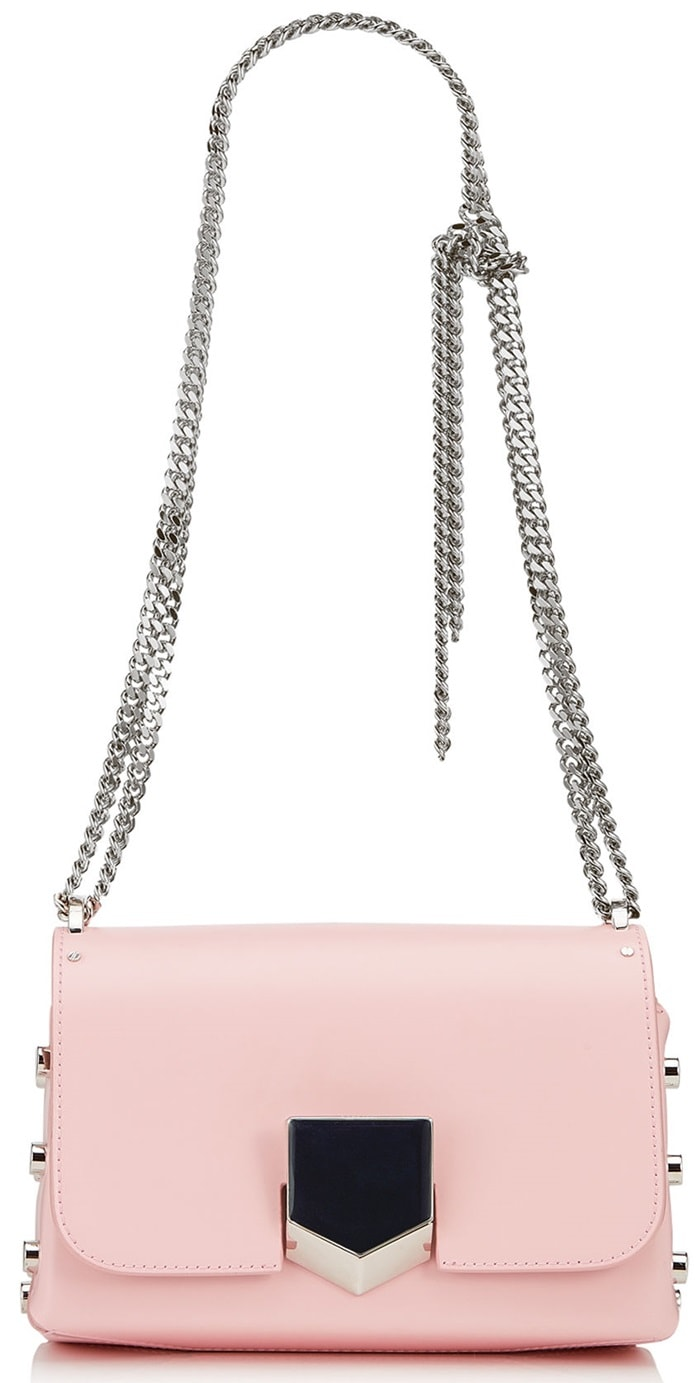The sexy and feminine 'Lockett Petite' shoulder bag in rosewater spazzolato is a statement piece for your new season wardrobe