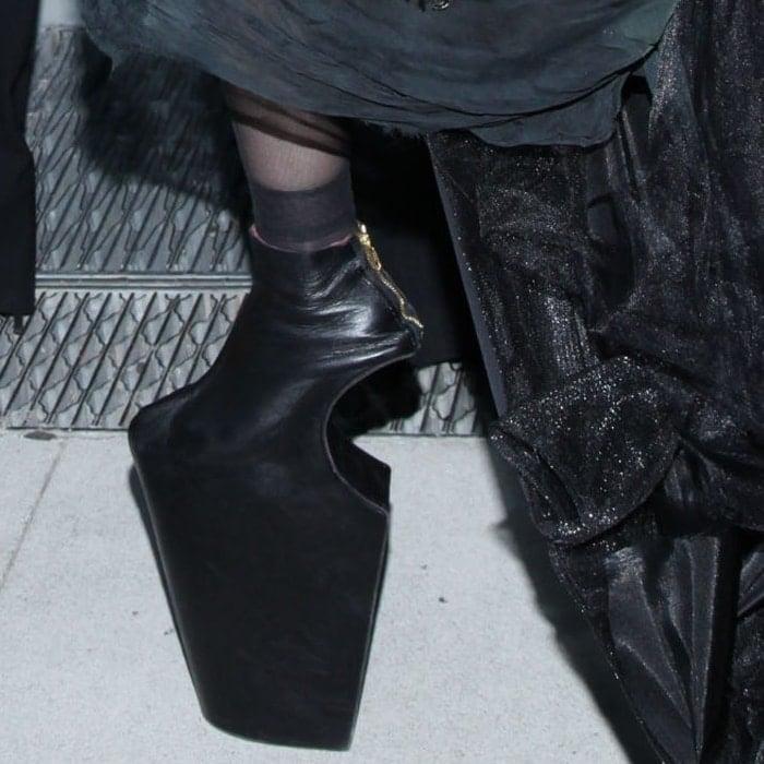 Lady Gaga rocks heel-less platform shoes by Noritaka Tatehana