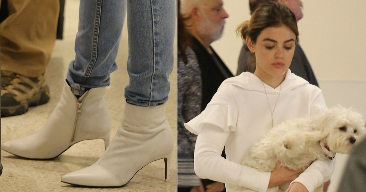 White Pointy Toe Beha Booties From Rag Amp Bone Worn By