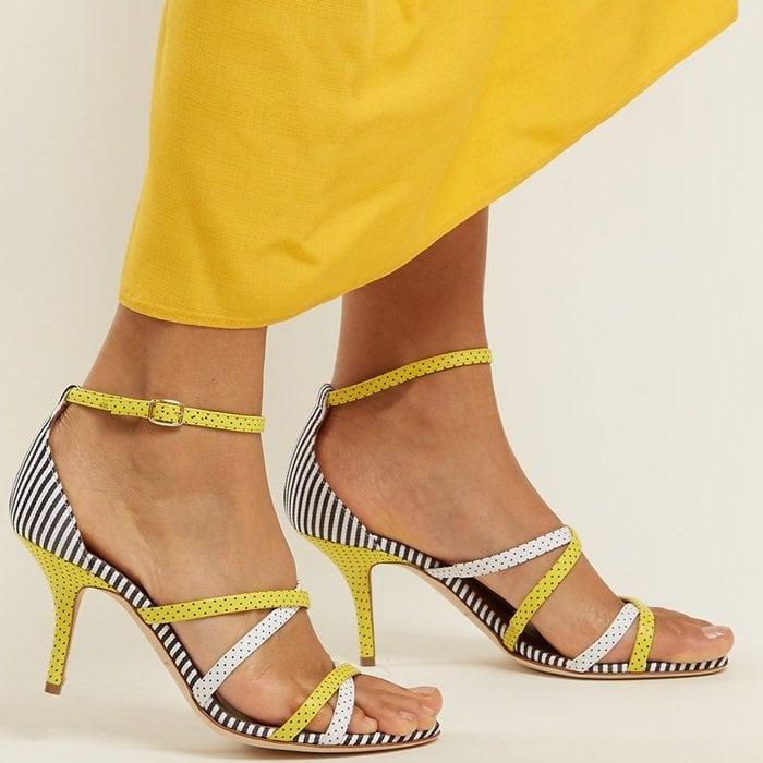 Yellow Polka-Dot 'Cindy' Sandals