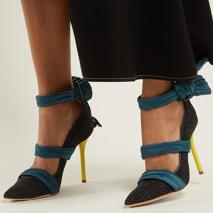 Malone Souliers's signature 'Robyn' pumps are revisited using the French fashion house's codes
