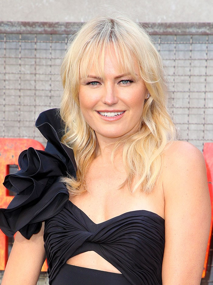 """Malin Akerman at the""""Rampage"""" premiere at the Microsoft Theater in Los Angeles, California, on April 4, 2018."""