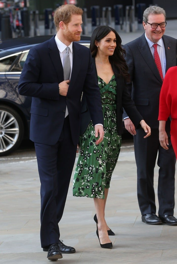 Meghan Markle and Prince Harry attending an Invictus Games reception in London