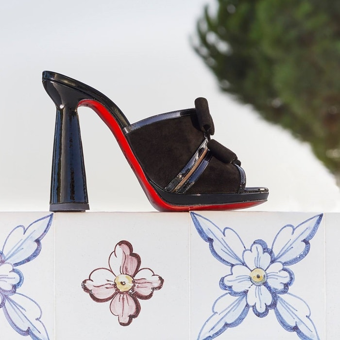 Miss Daisy sits pretty, perched on Christian Louboutin's new 120mm Guéridon heel