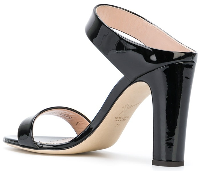 Black patent leather 'New Darsey' mules