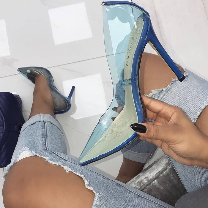 Blue Pointy-Toe 'Nova' Stiletto Pumps