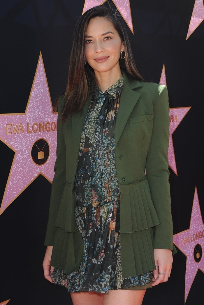 Olivia Munn at a luncheon to celebrate Eva Longoria's star on the Hollywood Walk of Fame in Los Angeles on April 16, 2018