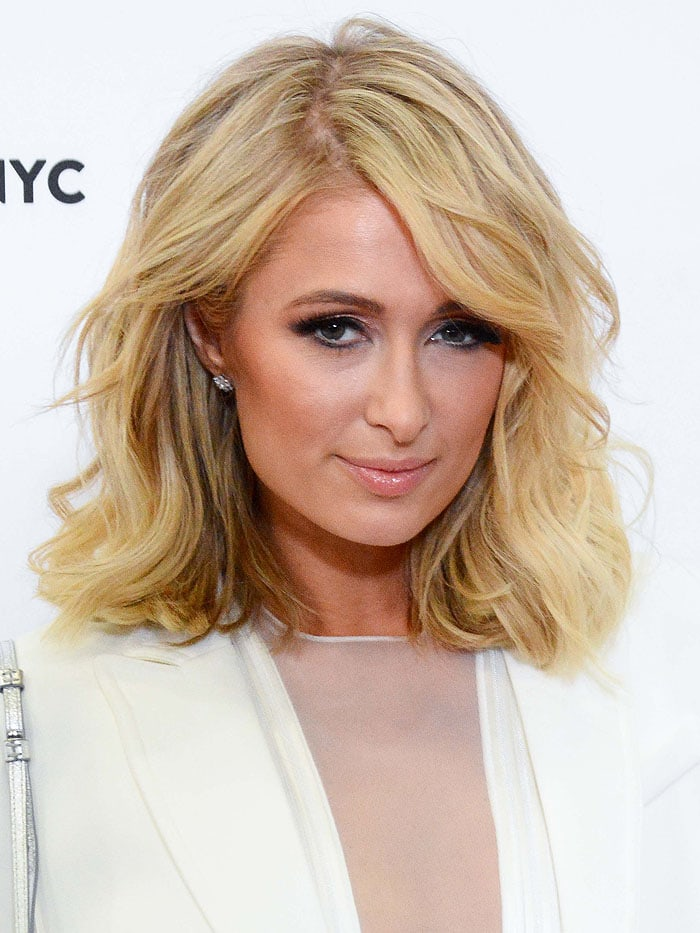 Paris Hilton at day one of Beautycon 2018 at the Jacob Javits Center in NYC.