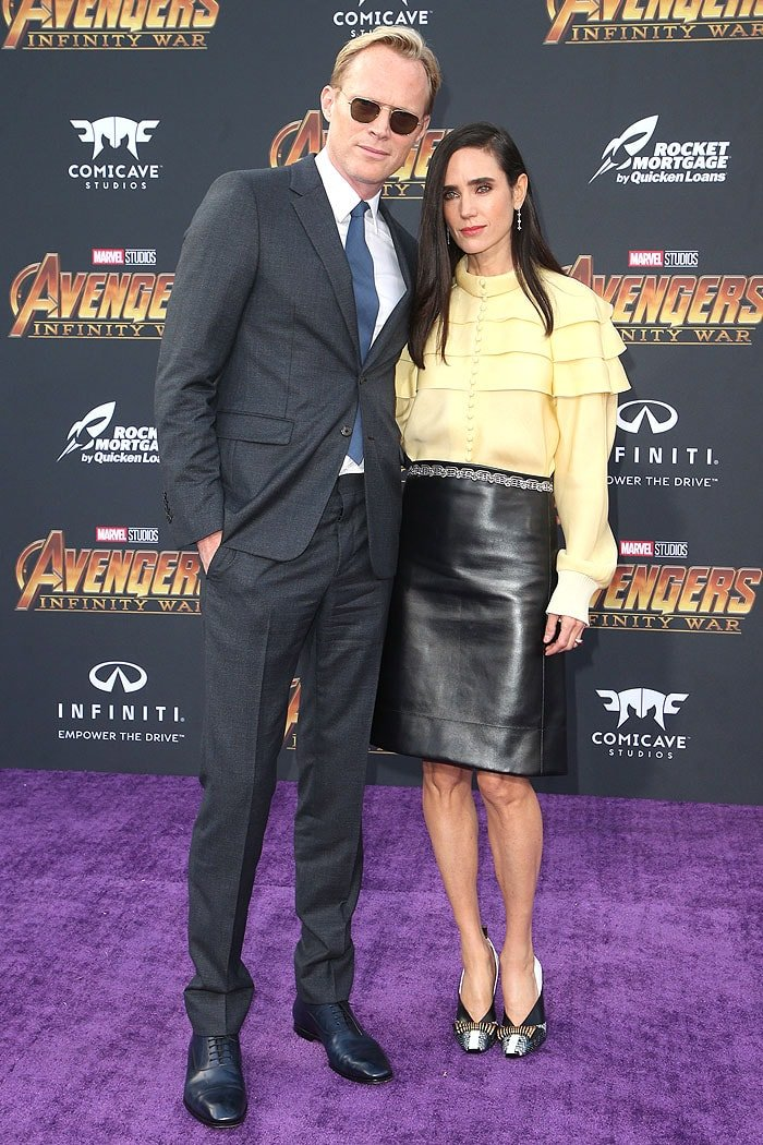 "Paul Bettany and Jennifer Connelly at the ""Avengers: Infinity War"" premiere."