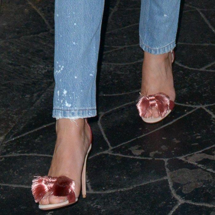 Rosie Huntington-Whiteley's'Lotus Blossom' tassel-embellished sandals