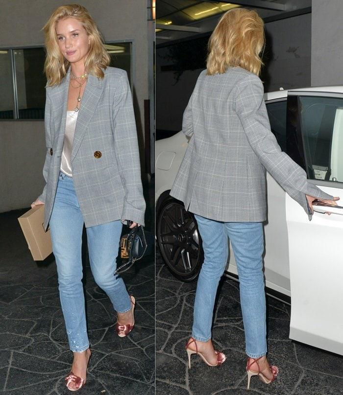 Rosie Huntington-Whiteley leaving E Baldi restaurant in Beverly Hills on April 11, 2018