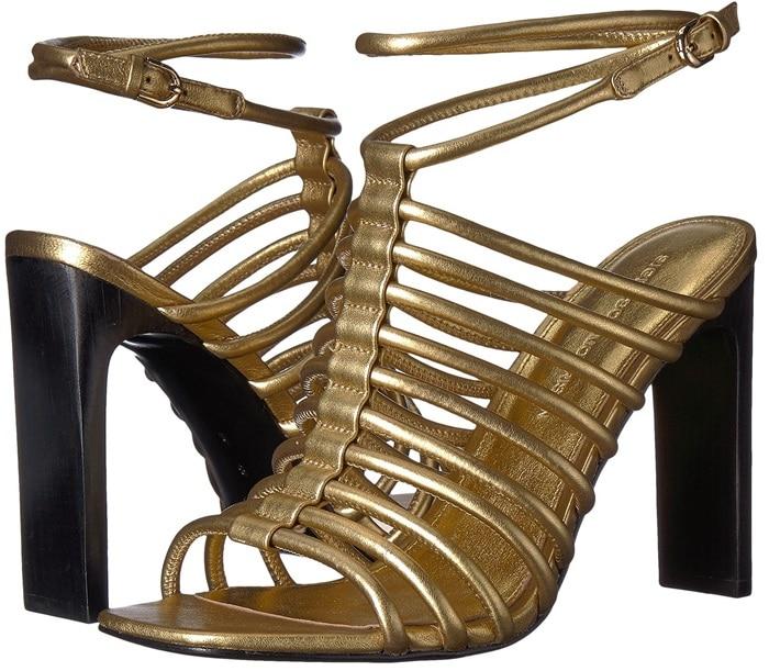 Gold Nappa 'Ilyssa' Tubular Sandals