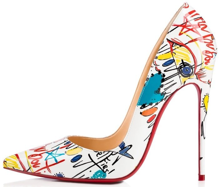 ff875144bf2 Loubitag Scribble Printed 'So Kate' Pumps by Christian Louboutin