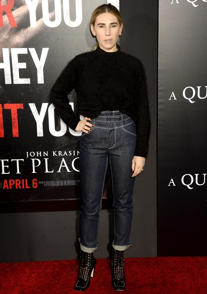 Zosia Mamet opted for a casual look styled by Kemal Harris