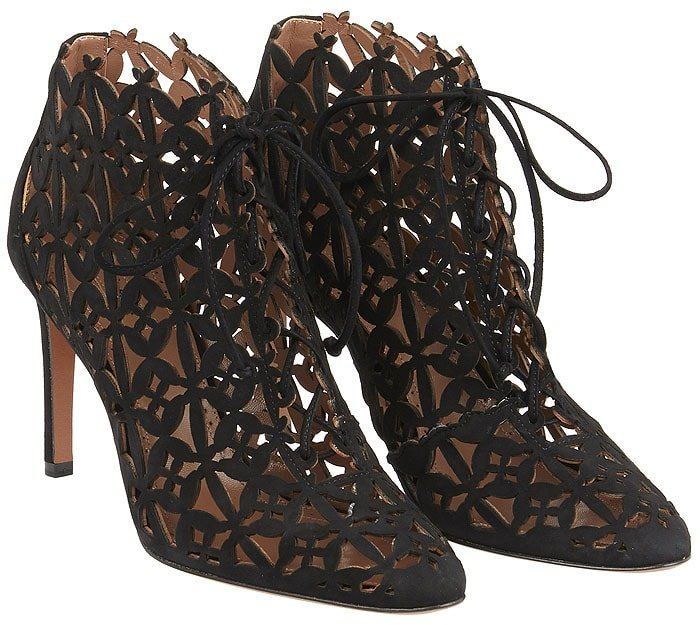Azzedine Alaia laser-cut ankle boots