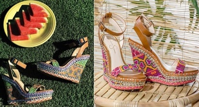 9959a942f50 Cute Summer Wedges Clad in Sunny Cross-Stitching by Jessica Simpson