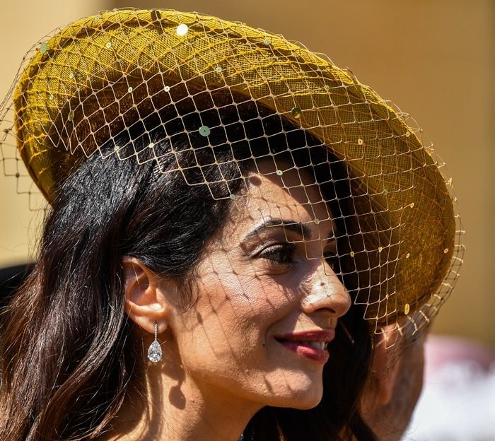 Amal Clooney's netted hat from Stephen Jones