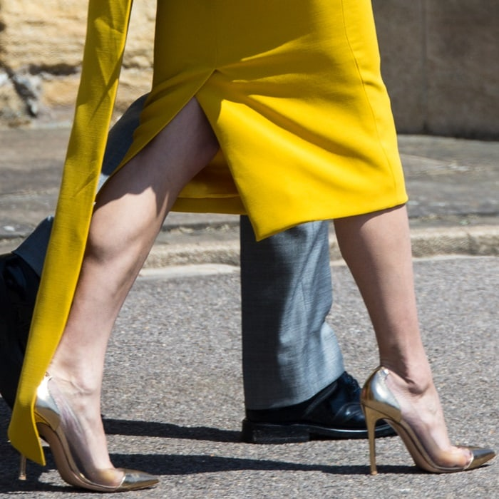 Amal Clooney's Mekong gold Plexi pumps from Gianvito Rossi