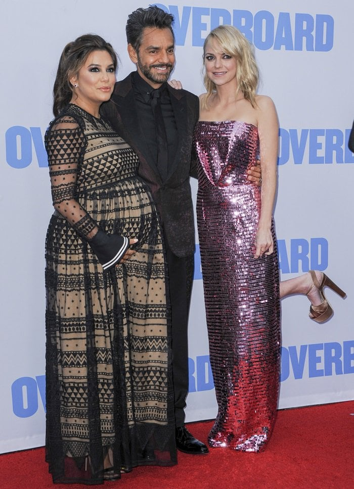 Eva Longoria, Eugenio Derbez, and Anna Faris at the premiere of Overboard
