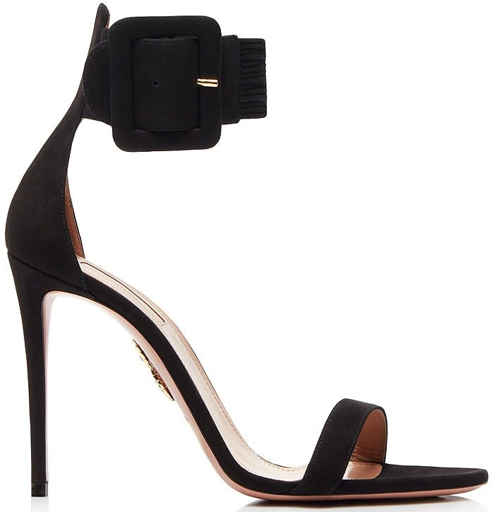 Aquazzura Casablanca sandals black suede