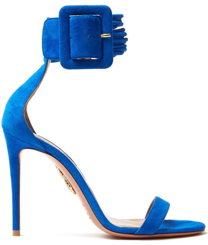 Aquazzura Casablanca sandals blue suede