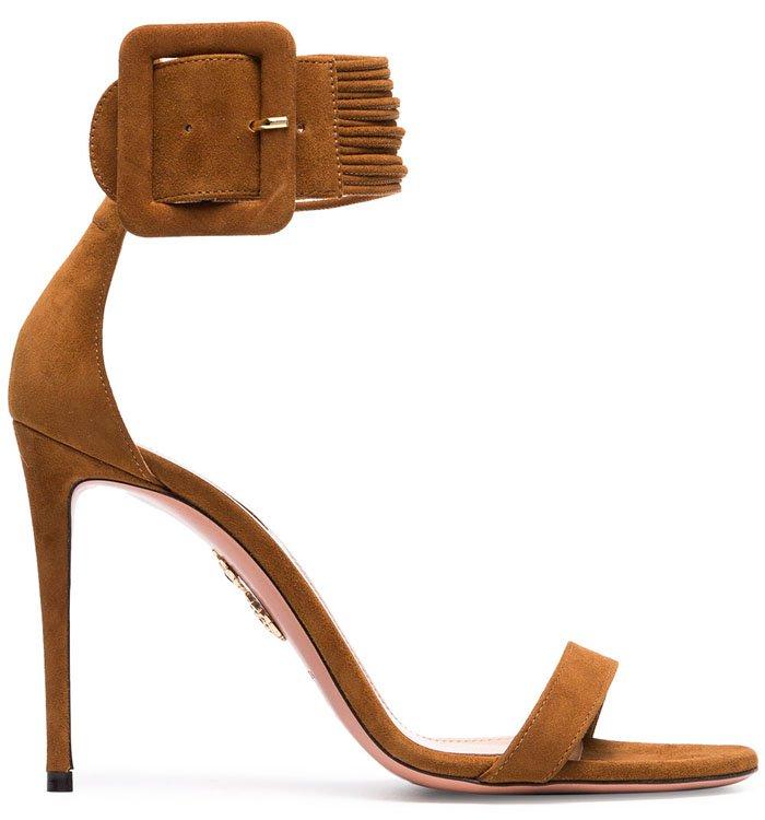 Aquazzura Casablanca sandals brown suede