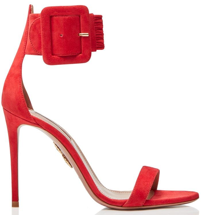 Aquazzura Casablanca sandals carnation red suede