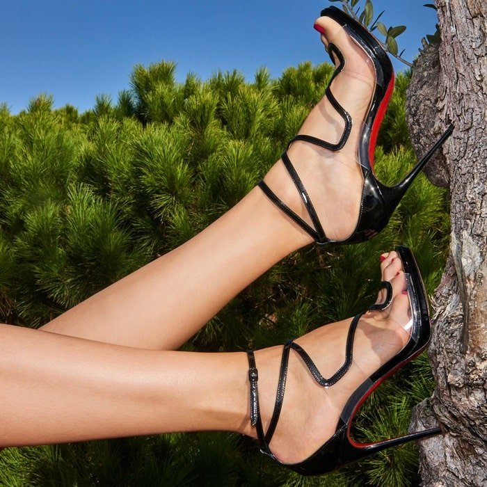 Artisteric 120 Patent/PVC Sculptural Sandals by Christian ...