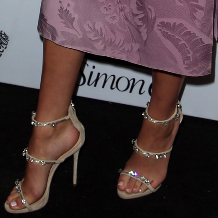 Bailee Madison showing off her pretty feet in 'Harmony Sparkle' sandals