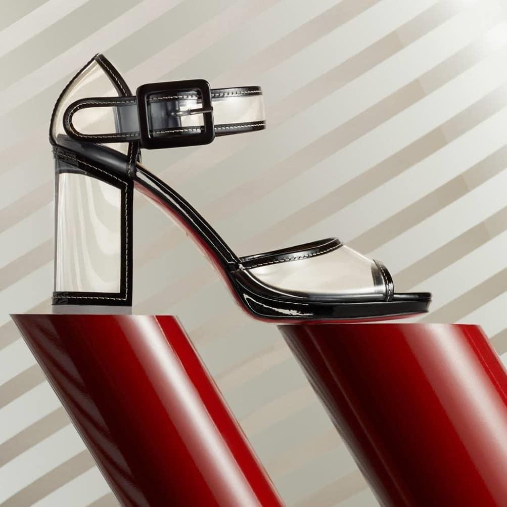 Barbaclara Black PVC Sandals