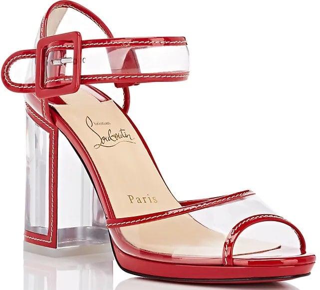 Red 'Barbaclara' Specchio Leather & PVC Platform Sandals