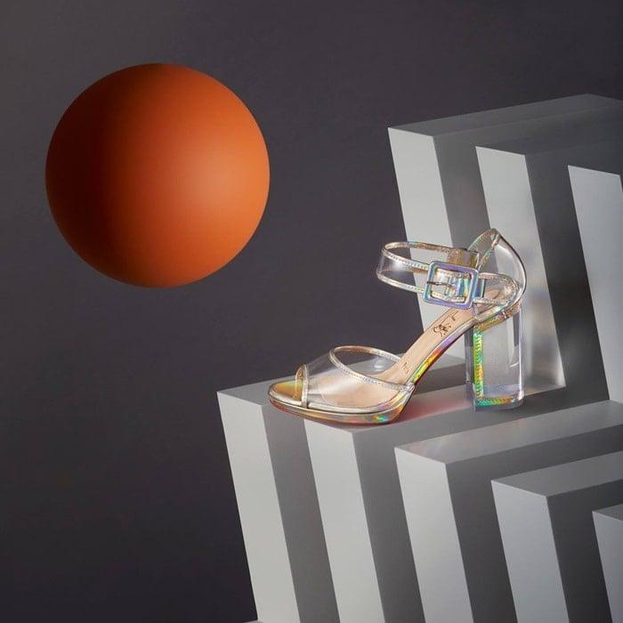 Platine 'Barbaclara' Specchio Leather & PVC Platform Sandals