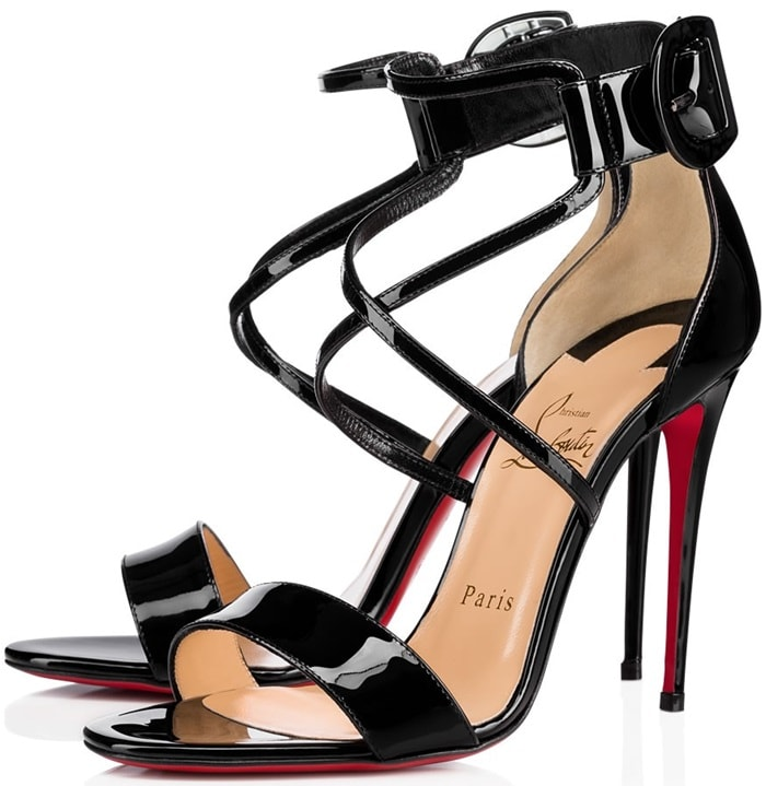 Slim crossover straps heighten the retro sophistication of this impeccably crafted Italian sandal